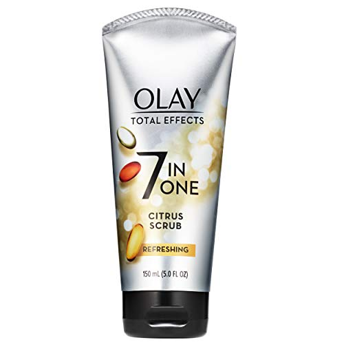 Facial Cleanser by Olay Total Effects Refreshing Citrus Scrub Face Cleanser, 5 Ounce Packaging may Vary