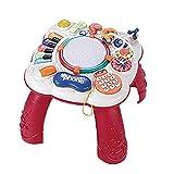 Jxfrice Sensorisches Spielzeug für Babys, musikalischer Lerntisch, Baby-Spielzeug, 2-in-1 Früherziehungs-Spielzeug, Aktivitäts-Spieltisch für Babys und Kinder