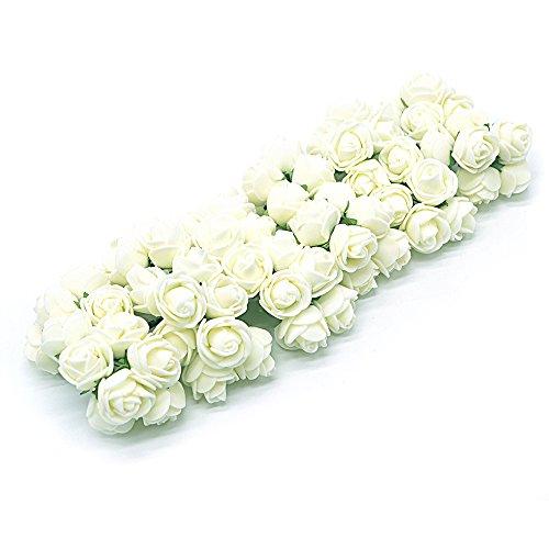 144er Creme Schaumrosen Foamrosen Brautstrauss Rosenstrauss Kunstblumen Kunstrose Rose Für Hochzeit DIY Zuhause Deko