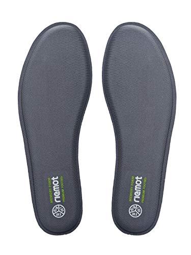 riemot Plantillas Memory Foam para Zapatos de Hombre y Mujer, Plantillas para Zapatillas Botas, Cómodas y Amortiguación para Trabajo, Deportes, Caminar, Senderismo,Gris EU41