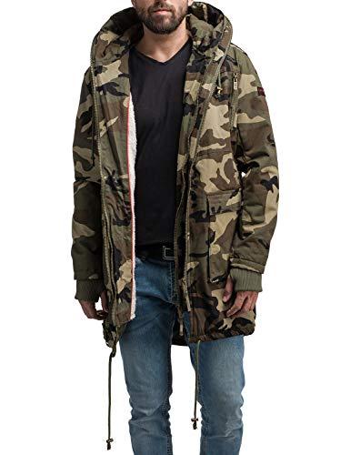 Navahoo Herren Baumwoll-Mantel Winterparka Assassin No 1 Camouflage Gr. L
