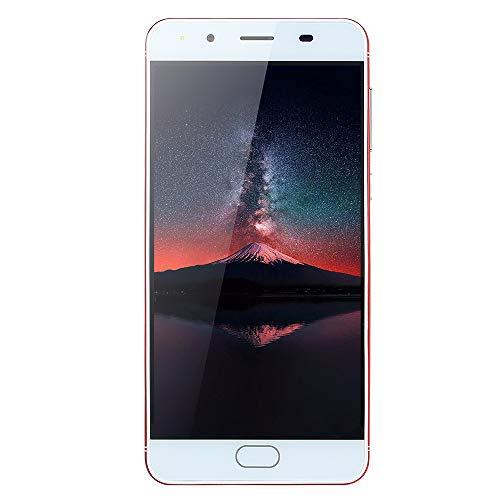 JiaMeng Moviles Libres 4G 5.0''Ultradelgado Android 5.1 Cuatro nucleos 512MB+512MB gsm WiFi Dual SIM Smartphone Móviles y Smartphones Libres (Rojo)