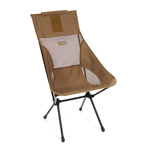Helinox Sunset Chair - Sedia pieghevole da campeggio, in alluminio, leggera, stabile, pieghevole, con borsa per il trasporto, Coyote Tan, taglia unica