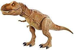 """The Epic Roarin' Tyrannosaurus Rex is inspired by the Jurassic World animated series,Camp Cretaceous! This larger-scaledinosaur action figure features """"Primal Attack"""" that lets kids control the battle play! Move the tail up and down, side to sid..."""