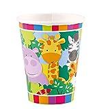 Amscan International–9901917Jungle Friends–Vasos de papel (266ml , color/modelo surtido