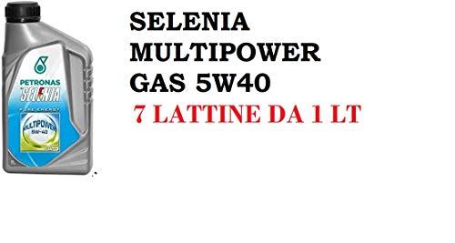 OLIO MOTORE SELENIA MULTIPOWER GAS 5W40 7 LATTINE DA 1 LITRO