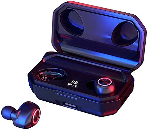 【140H Duración】 Auriculares Inalámbricos, Auriculares Bluetooth 5.0 con Micrófono, Pantalla LED, HiFi 3D Estéreo, Reducción de Ruido en Llamada CVC 8.0, IPX 6, Compatibles con Android/iOS