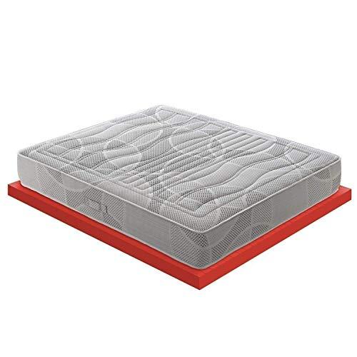Materassiedoghe - Materasso Matrimoniale Memory Foam 11 Diverse Zone – 7 cm Memory Foam – Certificato Presidio Medico – 100% Made in Italy – MOD. Polifoam (160x200)