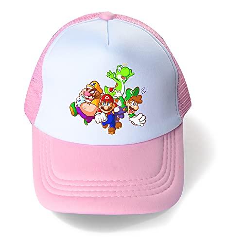 Super Mario Sombrero Super Mario Verano Niños Sombrero Mario Boys Mesh Cap Transpirable Big Kids Sun Hat Ocio