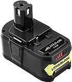 Topbatt 18V 5.0Ah Batterie de remplacement pour Ryobi One+ RB18L50 RB18L40 RB18L25 RB18L15 RB18L13 P108 P107 P122 P104 P105 P102 P103 avec indicateur de charge à LED