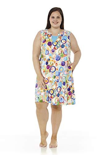 mabel intima Vestidos Mujer Talla Grande Vestido Talla Grande Casual con Tirantes Vestido Talla 54