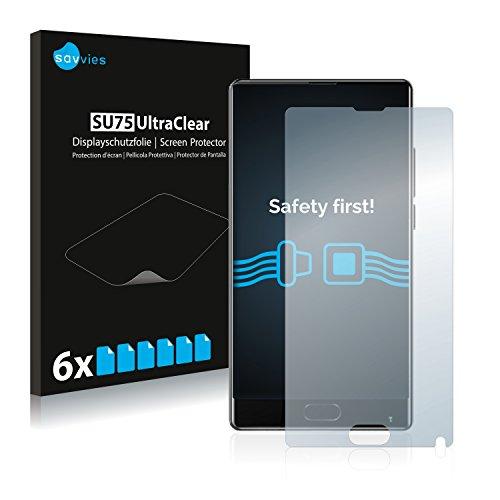Savvies 6X Schutzfolie kompatibel mit Bluboo S1 Bildschirmschutz-Folie Ultra-transparent