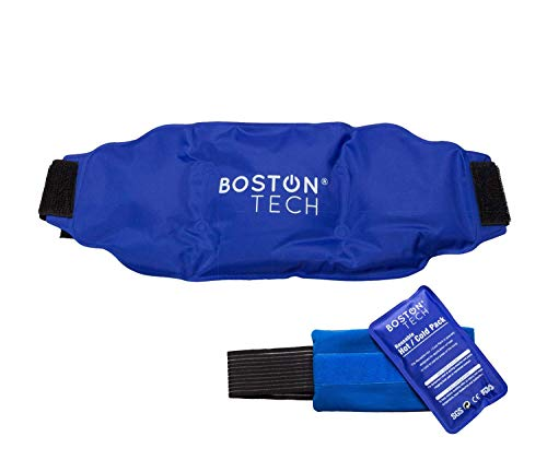 Boston Tech MA-101 Boston Pak - 2 bolsas de gel para frio y calor. Re-utilizables, 1 con cinturón universal ajustable y 1 otra con banda de compresión. Ideal para dolores y lesiones en general
