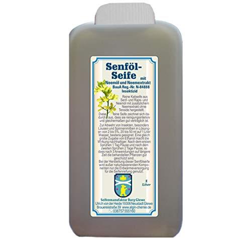 Algin Neem Senfölseife 1 Liter Flasche biobasierendes Insektizid