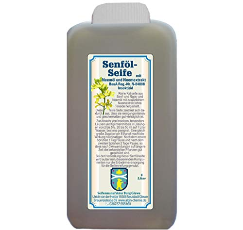 Algin Neem - Jabón de aceite de mostaza (botella de 1 litro)