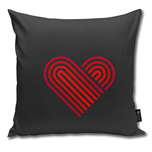 Pants Hats Heart Web Icon Love Symbol Linear Red Pattern Pillow-Home Decor Pillow Cover Bedroom Decorative Cushion Case For Living Sofas Square Pillow