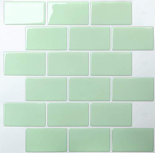 10 hojas de azulejos autoadhesivos extraíbles para cocina, entrepaño o baño, papel...