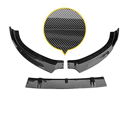 piaopiao Ajuste para Audi S3 A3 (S-Line) Frente Parachoques Spoiler Protector Plate Kit de Cuerpo de Labios Superficie de Carbono Strip Decorativo Strip Chin Shovel 2013-2016
