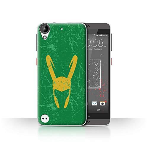 Hülle Für HTC Desire 630 Antiheld Comic-Kunst Loki Helm Inspiriert Design Transparent Ultra Dünn Klar Hart Schutz Handyhülle Case