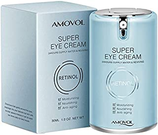 Eye Cream for Dark Circles and Puffiness with Retinol & Grape Seed Extract, Best Anti Aging Under Eye Treatment For Women & Men, Refreshing, Hydrating, Soothing, 1oz