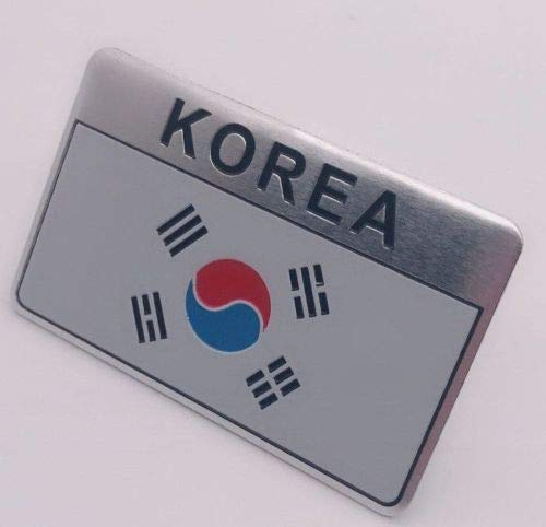 RS Group sticker veel landen wereldwijd metaal zelfklevend 3D-opschrift vlag logo op lijm Flagge Zuid-Korea.