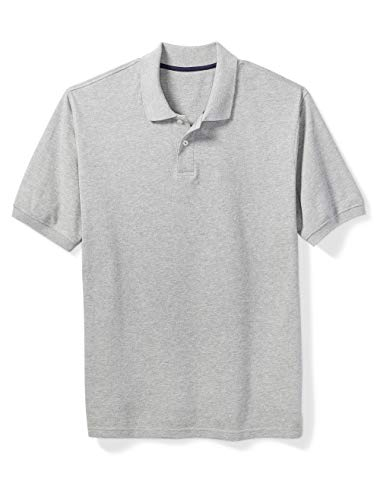 Amazon Essentials Men's Big & Tall Cotton Pique Polo Shirt fit by DXL, Light Gray Heather, 6XLT