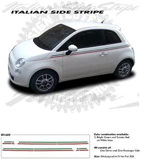 CarBeyondStore Fiat 500 Italian Side Stripe G