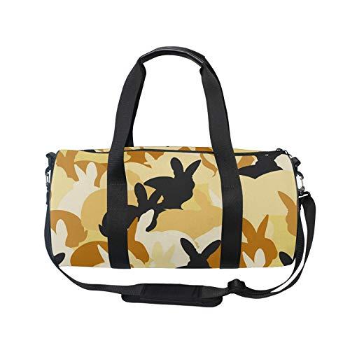 iRoad - Mochila deportiva para gimnasio, bolsa de viaje, diseño de conejos, ligera, con correa para el hombro, bolsa de gimnasio para hombres y mujeres