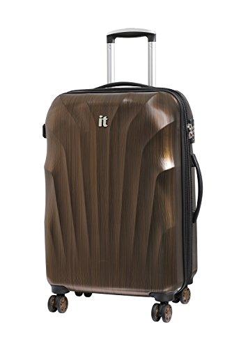 it luggage Momentum 8 Wheel Hard Shell Single Expander Suitcase Medium with TSA Lock Maleta, 70 cm, 96 Liters, Dorado (Gold/Black Brushed)