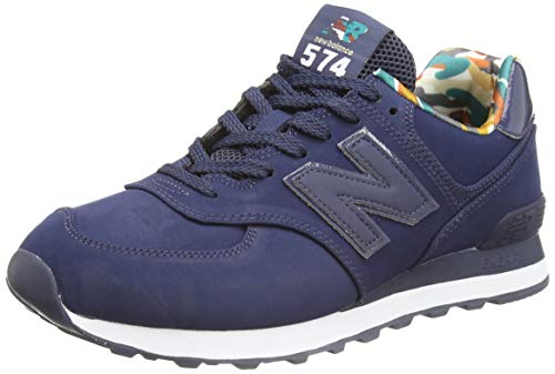 New Balance 574 ML574GYZ Medium, Basket Homme, Blue (Navy GYZ), 42.5 EU