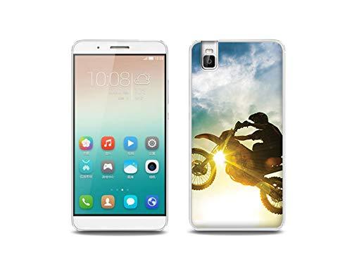 etuo Handyhülle für Huawei ShotX - Hülle, Silikon, Gummi Schutzhülle - Motocross