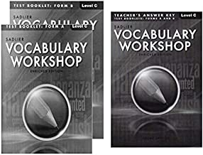 Vocabulary Workshop Test Booklet Form A,B Enriched Edition with Teacher's Answer Keys Level C