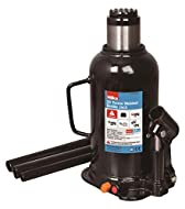 High quality bottle jack TUV/GS approved with tough welded base and polished steel ram. Welded design for increased strength and prolonged life Max load 20 Tonne Max height 445mm Adjustable screw 60mm