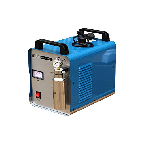 US STOCK 300W 95L Oxygen Hydrogen HHO Gas Flame Generator Water Welder Acrylic Polishing Machine Flame Polisher 110V + 2 Gas Torches