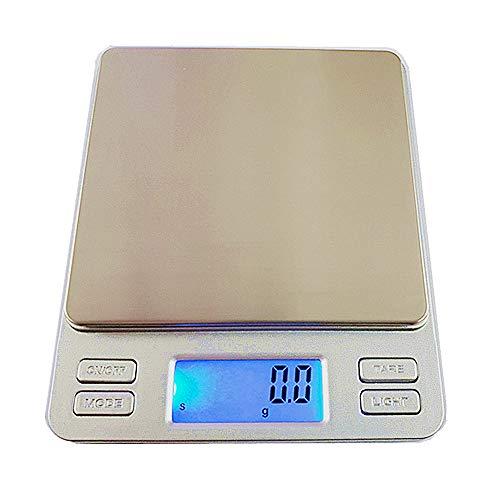 Hoosiwee Bilance da Cucina, 2000g 0.1g Bilance per Alimenti, Bilance Tascabili di Precisione, Funzione di Tara, per Cucinare, Droga