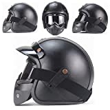 "Yvonnelee Leather Brown"" · Brain-Cap · Halbschale Jet-Helm Motorrad-Helm Roller-Helm..."