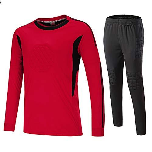 YSPORT Fútbol Americano Uniforme Portero Anti Choques Atuendo Masculino Traje Portero (Color : Red, Size : Large)