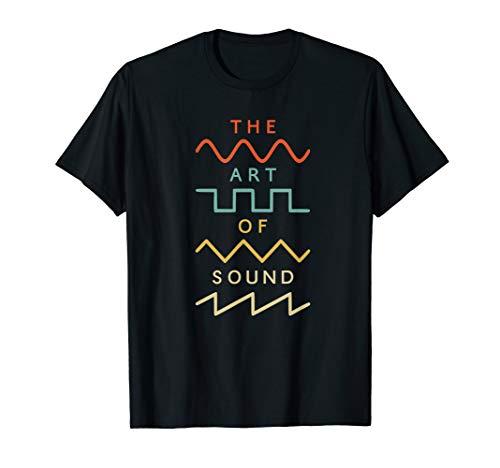 Vintage Retro Wellenform Synthesizer Modular Analog Nerd T-Shirt