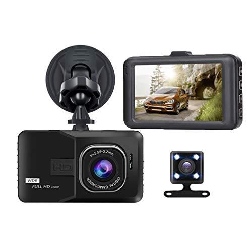 Ketamyy Telecamera Auto, Dash Cam Anteriore e Posteriore per Auto, Videocamera Full HD 1080p con Visione Notturna 170° e 120°, Parcheggio, Sensore di Movimento, Registrazione Loop 3.0 Pollici