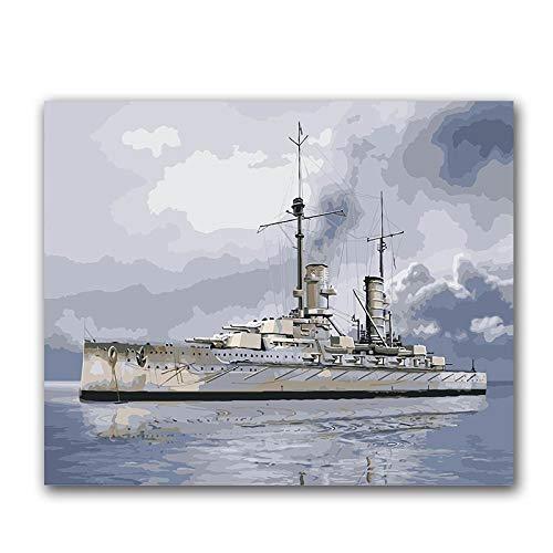 PAINTYTY Fighter Diy Ditigal olieverfschilderij foto door nummers oorlogsschip onderzeeër Tanks cijfers Tekenen verf Kleurplaten door nummer met kits
