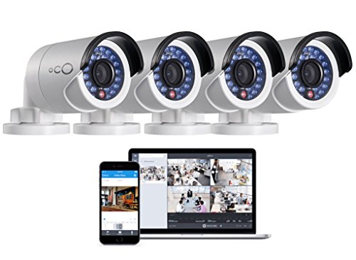 Oco Pro Bullet Outdoor / Indoor 1080p Cloud Surveillance and Security Camera with Remote Viewing (4-Pack)
