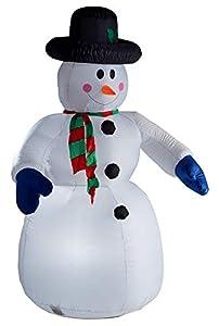 Aufblasbarer Schneemann 180 cm beleuchtet Weihnachtsdekoration Figur groß