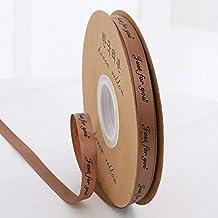 """DDDCM 10mm""""handgemaakte"""" gedrukt polyester lint met letter gedrukt lint for gift verpakking (Kleur : Just 10mm coffee, Gro..."""