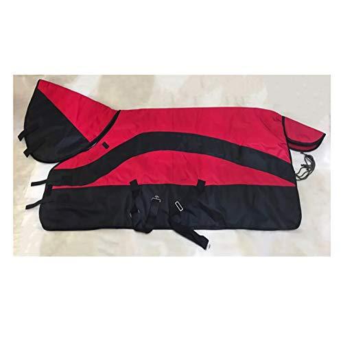MaJu Pferdedecke Thermodecke 600D Oxford Stoff Polyester Futter Atmungsaktiv Wind- Und Staubdicht Vollhals Und Saitenhalter(Size:135cm)