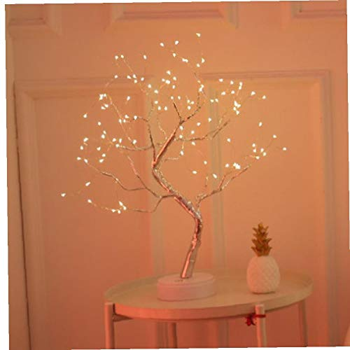 LED Night Light Mini Christmas Pearl Tree Wire Garland Lamp for Home Kids Bedroom Decor Holiday 108 Bulbs
