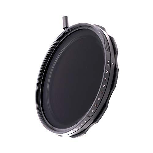 JONGSUN Variable ND Filter 67mm, S-Pro HD MRC 16-Schicht Nanobeschichtung, ND2-ND1000, Kameraneutraler Dichtefilter