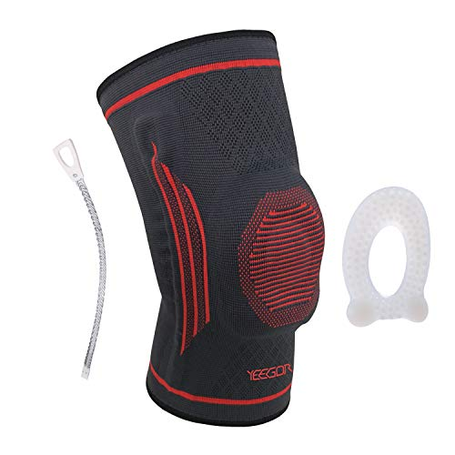 YEEGOR Knee Compression Sleeve for Men & Women - Breathable Knee Brace with Padding - Knee Support Sleeve for Running, Biking, Volleyball, Arthritis, Meniscus Tear, Joint Pain Relief