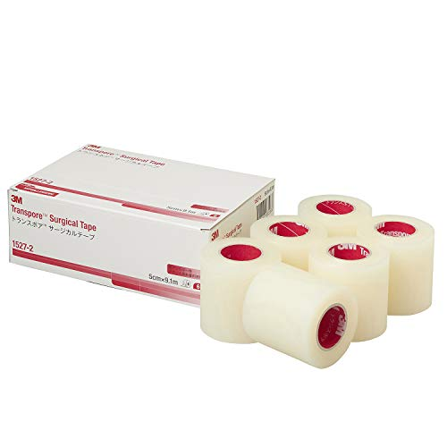 3M Transpore Surgical Tape, 2' x 10 yds, Case of 6 Rolls