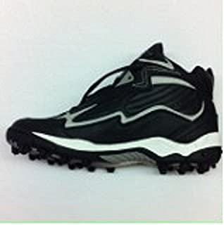 Pony Velocity Mens 3/4 Top Molded Football Cleat,Black/White/Charcoal