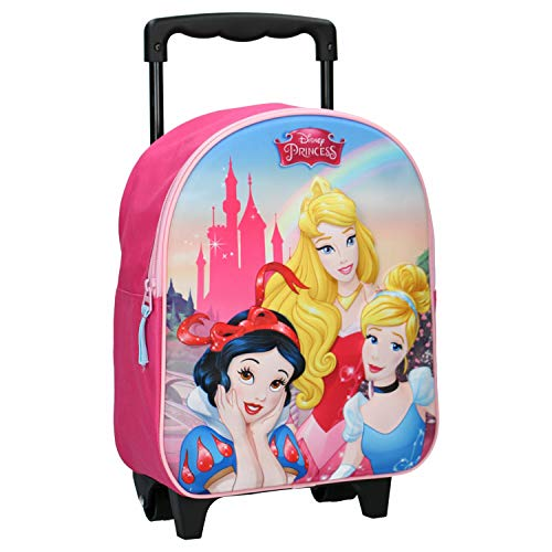 Disney Princesses Sac à Dos à roulettes - 3D - Rose
